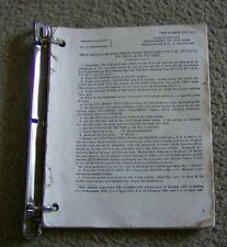 original manual for vintage TV-7/U, TV-7A/U, TV-7B/U, TV-7D/U TUBE TESTERS