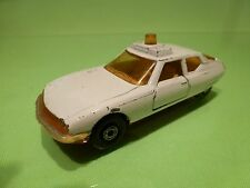 MATCHBOX SUPERKINGS -  K-62  CITROEN SM EMERGENCY CAR DOCTOR  - GOOD CONDITION