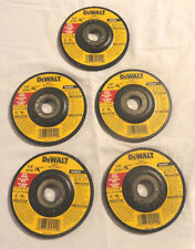 "5-COUNT DEWALT DW4514, 4-1/2"" X 1/4"" X 7/8"" METAL GRINDING WHEELS, NEW FREE SHIP"