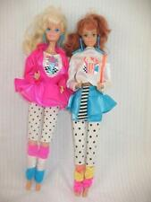 LOT OF 2 VINTAGE 1988 COOL TIMES BARBIE & FRANCIE DOLLS ORIG OUTFITS ~94E6