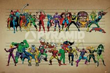 Marvel Comic Line Up Poster, Marvel Comic Characters Maxi Poster  61cm x91.5cm