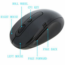 Wireless Optical Scroll 2.4Ghz Cordless Mouse USB Dongle Receiver For Laptop PC