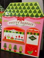 Benefit Cosmetics Pretty Parfait Tin House Makeup Canisters Box~Holiday edition