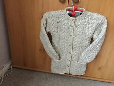 aran cardigan childs hand knitted