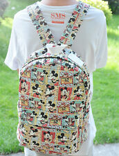 "Disney red trousers mickey 15"" backpack shoulder bag laptop kids backpacks"