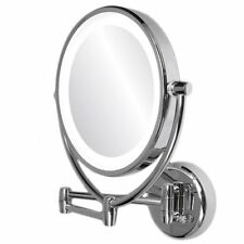 Vanity Mirror With Lights Wall Mount LED Lighted Makeup 10X Magnifying Chrome