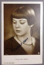 Truus Van Aalten, Dutch Actress, SIGNED card, AUTOGRAPH