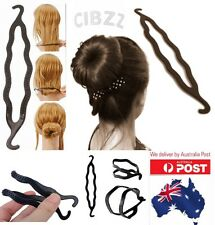 1x Magic Hair Bun Maker Plastic Styling Twist Clip Hook Donut Updo Tool