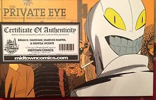 THE PRIVATE EYE DELUXE HC SIGNED BRIAN K VAUGHAN MARCOS MARTIN MUNTASA VICENTE