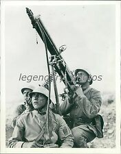 1939 World War II Turkish Anti-Aircraft Gun Original News Service Photo