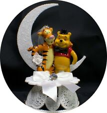 "TIGGER Bride & Winnie the Pooh Groom ""Your my HONEY"" Wedding Cake Topper  top"