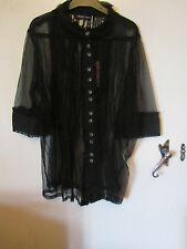 Black See Through Net Lysgaard Shirt / Top in Size S / Size 10 - NWT
