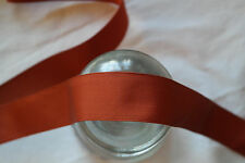 "10 yard 1"" vintage roll dark orange grosgrain ribbon millinery hat dress 231"