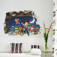 Paw Patrol 3D Wall Sticker Kids Room Cartoon Mural Decals Familly Home Decor