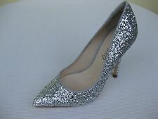 Boutique 9 Womens Shoes NEW $129 Sally Silver Glitter Pump 7 M
