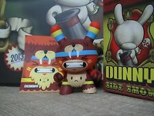 "◆Kidrobot 2013 Side Show DUNNY 3"" DGPH Totem Bear Owl Yeti Half Man Beast chase◆"