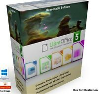 Libre Open Office Pro 5 Professional Suite compatibile con Microsoft Windows CD