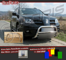 MITSUBISHI OUTLANDER 01-06 BULL BAR WITHOUT AXLE BARS +GRATIS!! STAINLESS STEEL
