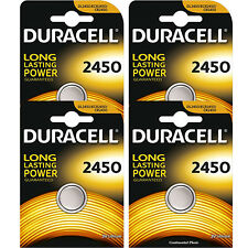 4 Pc Duracell CR2450 ECR2450 CR 2450 3V Coin Cell Lithium Button Battery