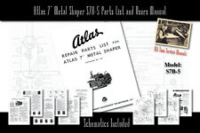 "Atlas 7"" Metal Shaper S7B-5 Service Manual Parts Lists Schematics"