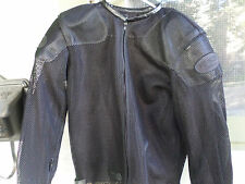 Vanson Leather motorcycle Jacket Made in USA Sz  MED./ONE RIP AT THE WRIST AREA
