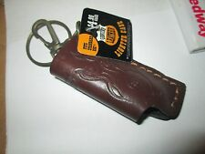 1 Leather Lighter Holder & Keychain Clip Great Bikers NEW bic & other 8 BALL