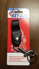 KEY-BAK #6139 Leather Strap Bolt Snap Key Chain with Split Ring - Brand New