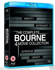 JASON BOURNE COLLECTION QUADRILOGY BLU RAY Box Set All 4 Movie Film New Sealed