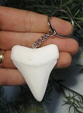 2 3/16'' GREAT WHITE REPLICA KEYCHAIN, NICE GIFT!!/MEGALODON SHARKS TOOTH TEETH