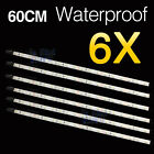 6x 60cm Boat White LED Strip Light Caravan Auto Bar Camping Flexible Waterproof