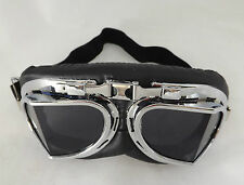 New Steampunk Alternative Fashion Cyber Fantasy Goggles Black Lens Glasses