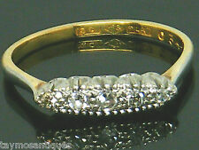 Antique 18k gold 18ct  gold Old cut diamond Art Deco ring size M Boxed