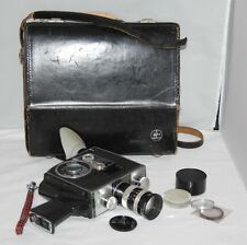 Bolex Paillard K2 - 1966 8mm Movie Camera with Vario-Switar Lens, Case, Hood etc