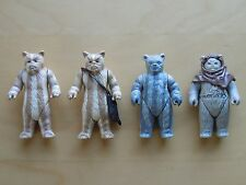 Vintage Star Wars Lot of 4 Ewok Action Figures Chief Chirpa Logray Teebo ROTJ