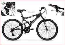 """26"""" Men's Mountain Bike Aluminum MTB Lightweight Frame Full Suspension Black NEW"""