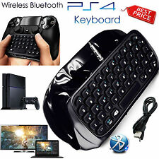PlayStation para PS4 Controlador Gamepad Inalámbrico Bluetooth Teclado Chatpad Negro