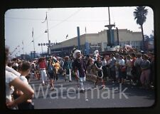 1950s amateur Photo slide  Los Angeles County Fair Pomona Indian Parade