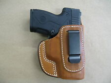 Beretta Nano 9mm IWB Leather In The Waistband Concealed Carry Holster CCW TAN RH