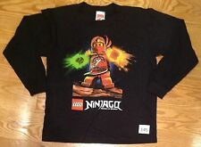 Lego Ninjago Boys XtraLarge Black Long Sleeve T-Shirt  #144 Kai