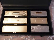 Antique Solid Brass Cigar Case Gold Tone Gifts for Men Tobacco Products Travel