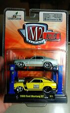 M2 MACHINES AUTO-LIFT RELEASE 11: 1969 FORD MUSTANG GT  R11   2-PACK 1:64