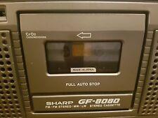 Vintage década de 1980 Sharp GF-8080 Estéreo GHETTOBLASTER boombox (DA4)