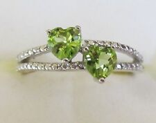 Peridot Heart Ring in Sterling Silver, size 6