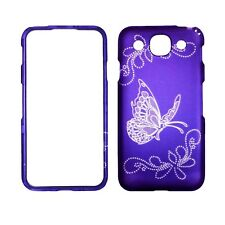 Purple Butterfly LG Optimus G Pro E980 AT&T Case Hard Cover Snap on Protector
