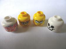 NEW PART 3626b MINIFIG FACES ASSORTED DESIGNS