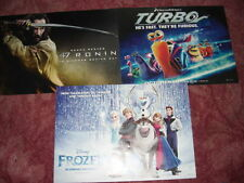 3 cinema posters,pick from Turbo,Frozen,Lego Movie,tinkerbell,madagascar Penguin