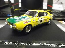 FORD Capri 2600 RS Racing 24h Spa 1972 3rd #3 Birrel Bougoignie BP 2Trofeu 1:43