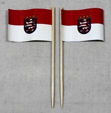 Party-Picker Hessen 50 St. Profiqualität Dekopicker Flagge Papierfähnchen