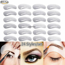 24*Foxnovo Eyebrow Stencils Eye Brow Grooming Shaping Templates DIY Makeup Tools