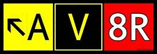 """AV8R"" (Aviator) Airport Taxiway Sign Aviation Stickers for Pilots! Crew Sticker"